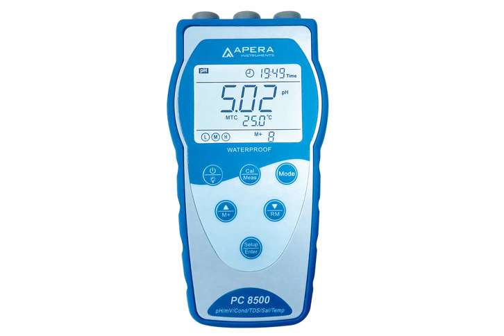 APERA, Portable pH/Conductivity Meter Kit with GLP Data Logger and USB Output